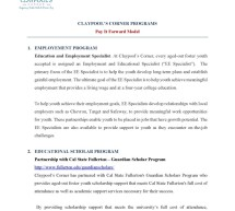 Claypool's Corner Programs