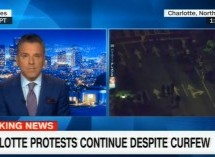 Police Monitor Cameras During Charlotte Protests