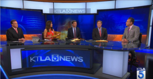 Brain Claypool on KTLA 5 discussing update on RTE 91 investigation